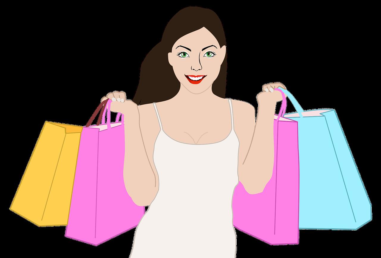 shopping, woman, girl